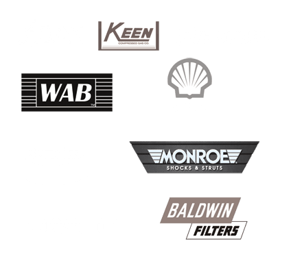 Collage of several logos for part dealers
