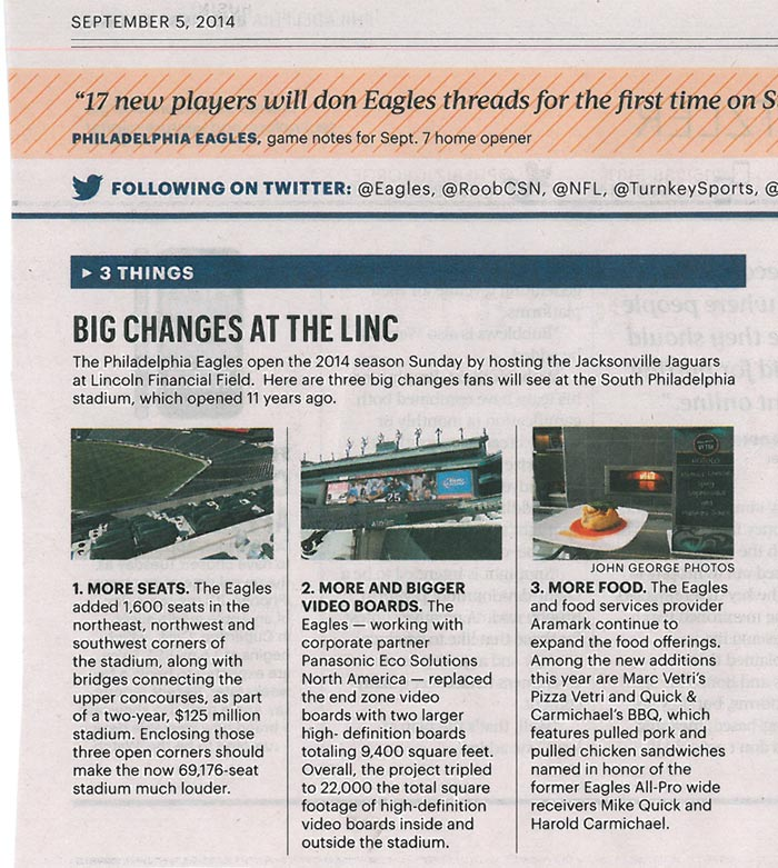 Big Changes at the Linc newspaper article