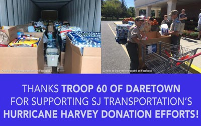 "See how Troop 60 of Daretown Performed a ""Good Turn Daily"" For Hurricane Victims"
