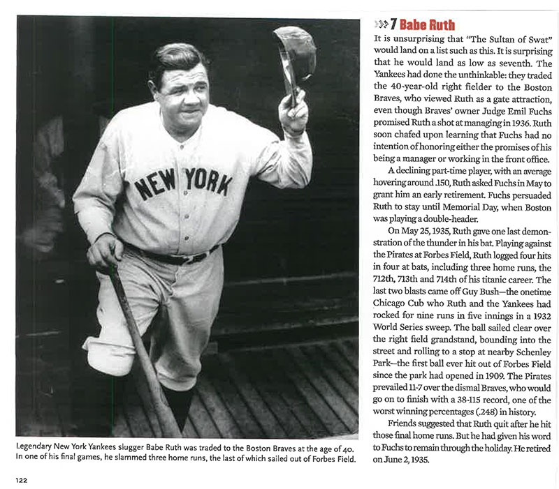 Article clipping about Babe Ruth