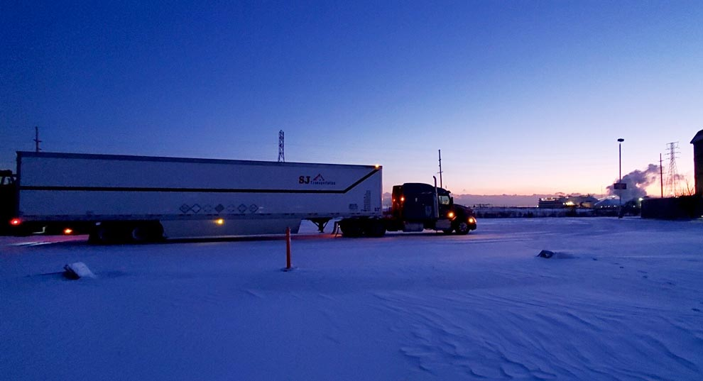 Twilight truck photo by Andrew Brandley