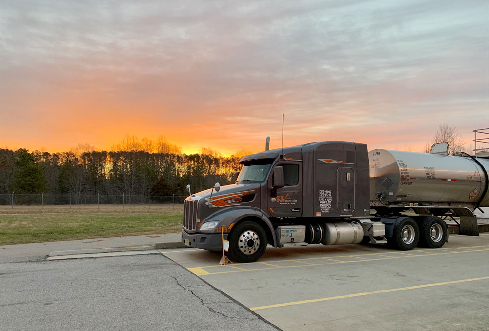 Photo of truck at sunset by Mike Wood
