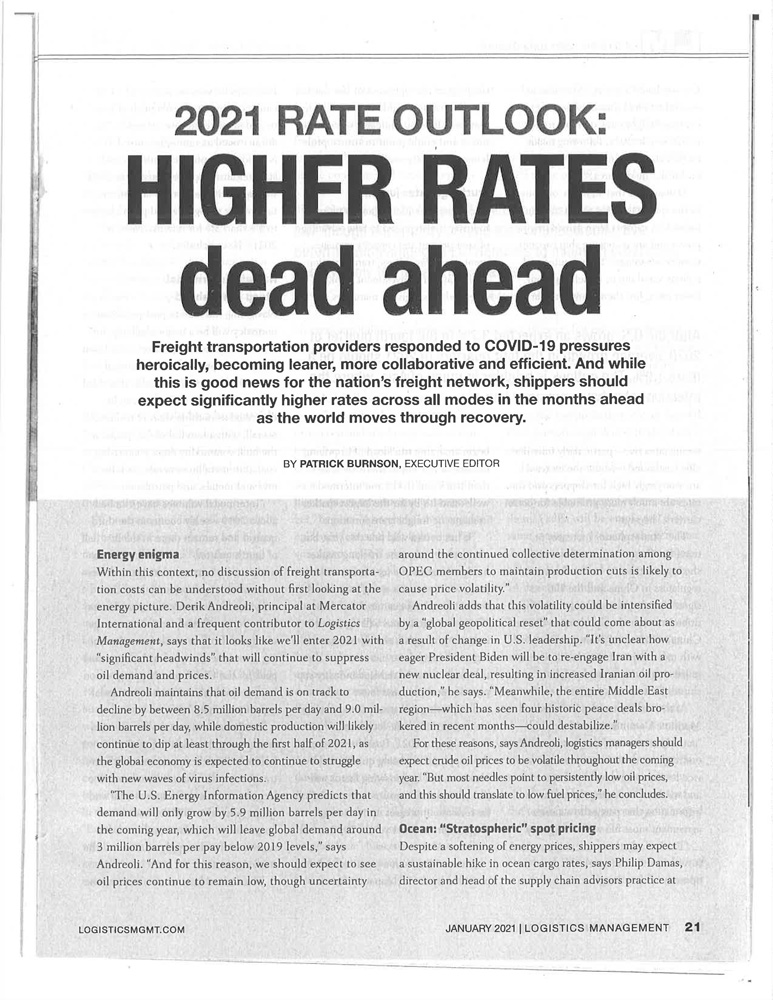 2021 Rate Outlooks: Higher Rates Dead Ahead